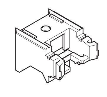 Universalträger für Raffrollo mit Schnurzug Wandabstand 3 cm