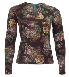Roses Purple top Lalamour