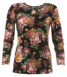 Roses Black top Lalamour