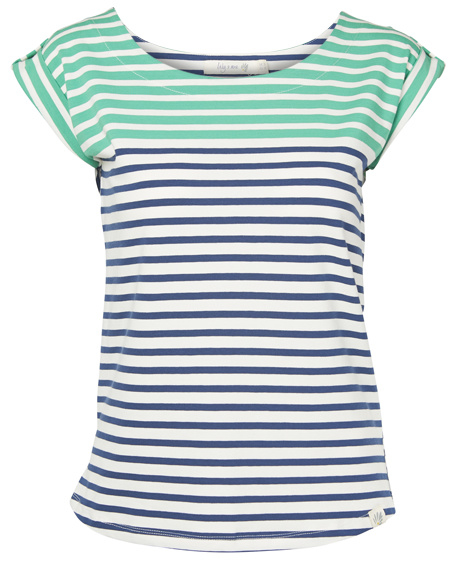 Two Tone Stripe top Lily & Me