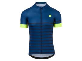AGU Melange fietsshirt korte mouwen - blauw/fluor
