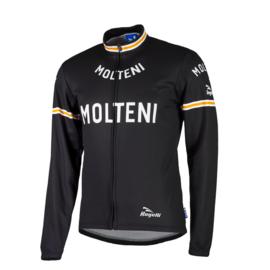 Rogelli Molteni retro fietsshirt lange mouwen - zwart