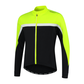 Rogelli Course heren fietsshirt lange mouwen - fluor/zwart/wit