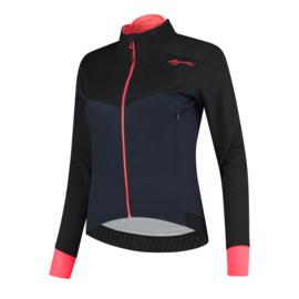 Rogelli Contenta dames winter fietsjack - blauw/zwart/coral