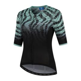 Rogelli Animal dames fietsshirt korte mouwen –zwart/turquoise (eco)