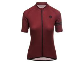AGU Essential dames fietsshirt korte mouwen - bordeauxrood