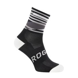 Rogelli Stripe zomer fietssokken - zwart/wit