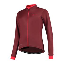 Rogelli Essential dames fietsshirt lange mouwen - bordeaux