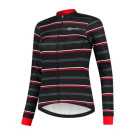 Rogelli Stripe dames winter fietsjack - zwart/rood