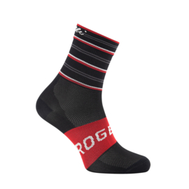 Rogelli Stripe dames zomer fietssokken - zwart/rood