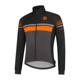 Rogelli Hero heren winter fietsjack - zwart/oranje