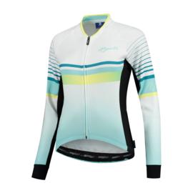Rogelli Impress dames fietsshirt lange mouwen – turquoise/geel