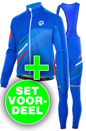 Rogelli Team winter kledingset - blauw