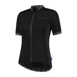 Rogelli Essential dames fietsshirt korte mouwen - zwart