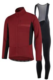 Rogelli Barrier/Nero heren winter fietsjack - bordeaux/zwart