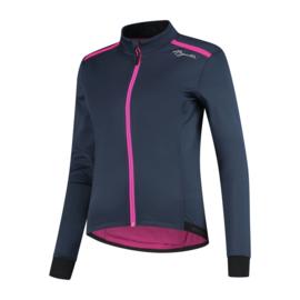 Rogelli Pesara dames winter fietsjack - blauw/roze