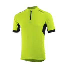 Rogelli Perugia 2.0 fietsshirt korte mouwen - fluor/zwart
