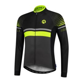 Rogelli Hero heren fietsshirt lange mouwen - grijs/zwart/fluor