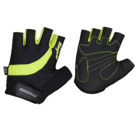 Rogelli Strada zomer fietshandschoenen - zwart/fluor