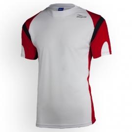 Rogelli Dutton hardloopshirt heren korte mouw - wit/rood/zwart