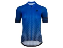 AGU Art Deco dames fietsshirt korte mouwen - blauw