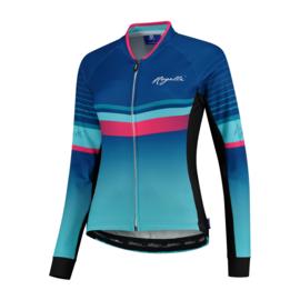 Rogelli Impress dames fietsshirt lange mouwen – blauw/roze