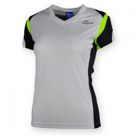 Rogelli Eabel hardloopshirt korte mouw dames - wit/zwart/fluor