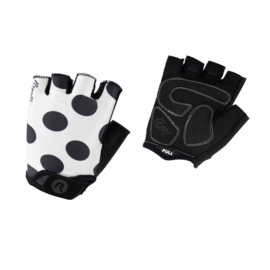 Rogelli Sprinkle dames zomer fietshandschoenen - wit/zwart