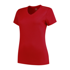Rogelli Promo dames hardloopshirt korte mouwen - rood