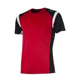 Rogelli Dutton hardloopshirt heren korte mouw - rood/zwart/wit