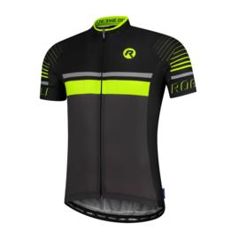 Rogelli Hero fietsshirt korte mouwen - grijs/zwart/fluor