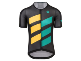 AGU High Summer fietsshirt korte mouwen - zwart/geel/groen