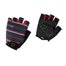 Rogelli Stripe dames zomer fietshandschoenen - zwart/rood