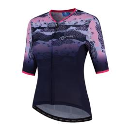 Rogelli Animal dames fietsshirt korte mouwen - blauw/roze (eco)