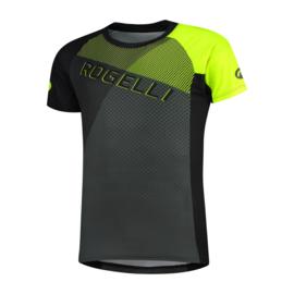 Rogelli Adventure 2.0 MTB fietsshirt korte mouwen - zwart/grijs/fluor