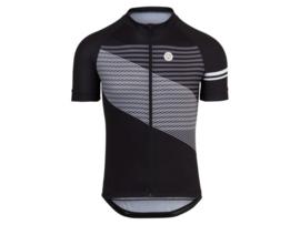AGU Essential Striped fietsshirt korte mouwen - zwart