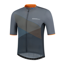 Rogelli Spike fietsshirt korte mouwen - grijs/oranje