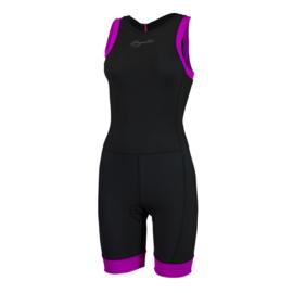 Rogelli Taupo dames triathlon suit - zwart/roze