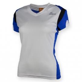 Rogelli Eabel hardloopshirt korte mouw dames - wit/blauw/zwart