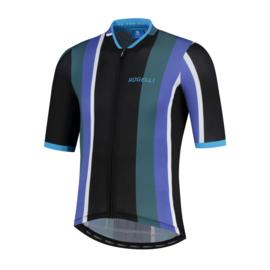 Rogelli Vintage fietsshirt korte mouwen - zwart/groen/blauw (eco)