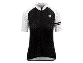 AGU Velo Love dames fietsshirt korte mouwen - zwart/wit