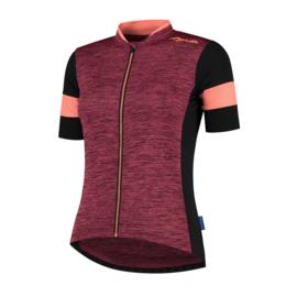 Rogelli Charm 2.0 dames fietsshirt korte mouwen - zwart/coral