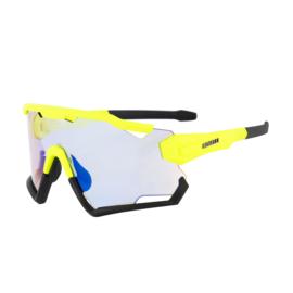 Rogelli Switch fietsbril - fluorgeel