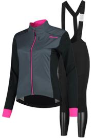 Rogelli Halo/Contenta dames winter fietsjack - roze/grijs/zwart