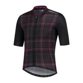 Rogelli Style fietsshirt korte mouwen - zwart/bordeaux (eco)