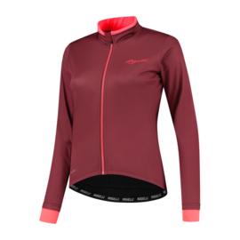 Rogelli Essential dames winter fietsjack - bordeaux/coral