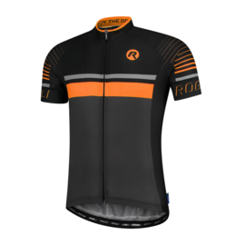 Rogelli Hero fietsshirt korte mouwen - grijs/zwart/oranje