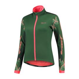 Rogelli Vivid dames winter fietsjack - groen/coral