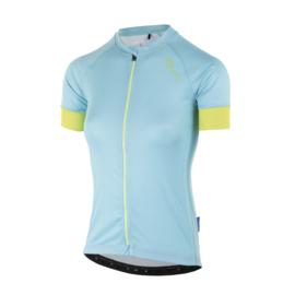 Rogelli Modesta dames fietsshirt korte mouwen - turquoise/geel