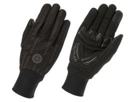 AGU Essential Hi-Vis winter fietshandschoenen - zwart